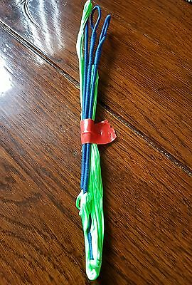 """8125,14 strand string for 66""""bow. Fluo green/blue"""