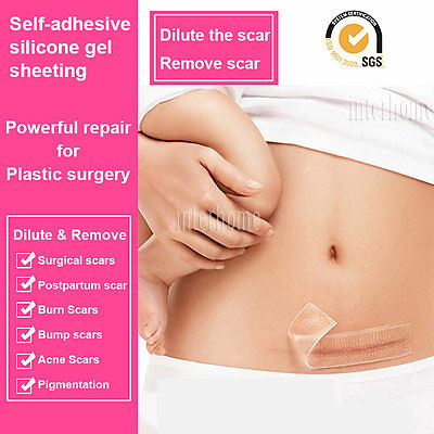 Medical Scar Away Patch Silicone Gel Sheet Wound Marks Removal Cesarean Section