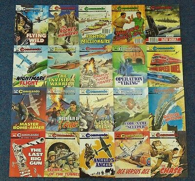 20 x COMMANDO War Picture Comics from early 1990's
