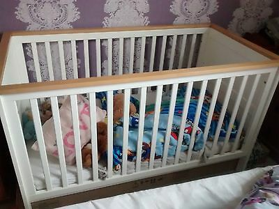 white and pine solid wood cot no mattress