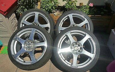 205/40 r17 alloy wheels with brand new tyres