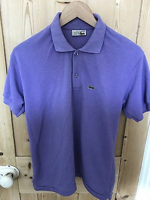 Lacoste Polo T Shirt Small Purple