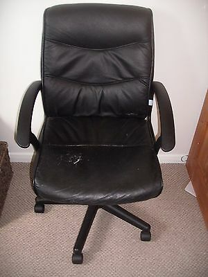 black  swivel leather computer office chair