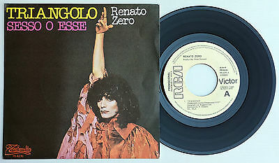 "7"" Renato Zero Spain 45Rpm Ps Triangolo Rca Año 1978 Promo * Mint* Sesse O Esse"