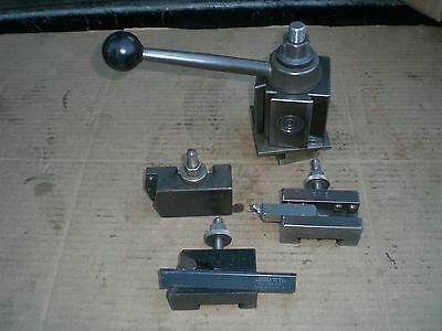 Genuine Aloris BXA Quick Change Lathe Tool Post Holder with 3 holders