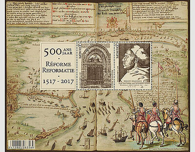 belgium 2017 LUTHER 500 year Reformation religion protestant old map horse boat