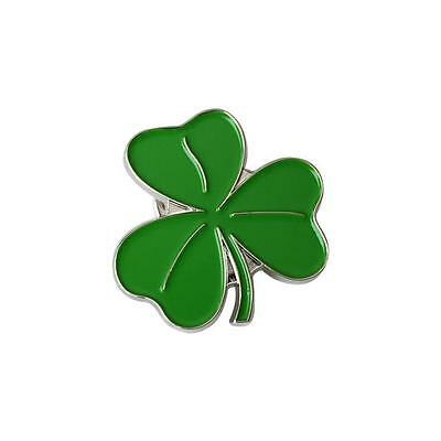 Metal Enamel Pin Badge Brooch Lucky Irish Shamrock Clover