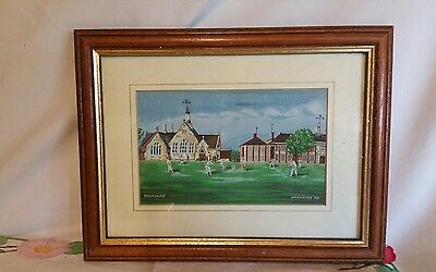 Brockhurst cricket woven in silk picture