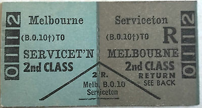VR Ticket - MELBOURNE to Serviceton - 2nd Class Return
