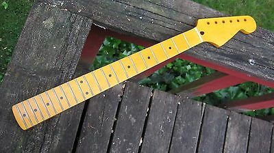 New stratocaster style 21 fret neck strat maple vintage amber part fits fender