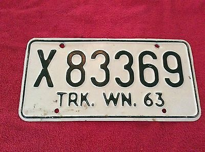 1963 Washington Truck License Plate