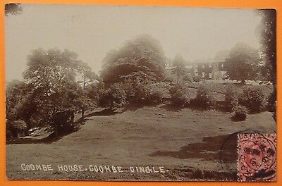 RP Postcard POSTED 1908 COOMBE HOUSE COOMBE DINGLE  BRISTOL