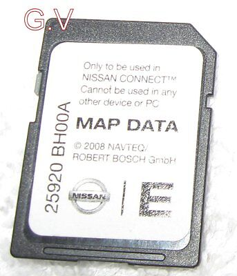 Nissan Connect Sat Nav Sd Card Uk Europe 2008 Free Post 25920 Bh00A