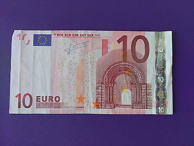 One Bank Note Bill Of 10 Euros, Greece 2002
