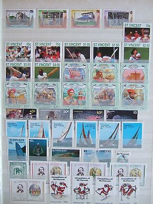 St Vincent / Grenadines Modern Mint Mnh Stamp Collection Of 200+ Diff In Sets