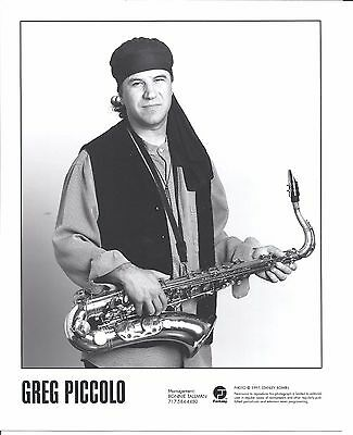 Greg Piccolo press kit, 1997, COOL official 8x10 GLOSSY photo! Roomful of Blues
