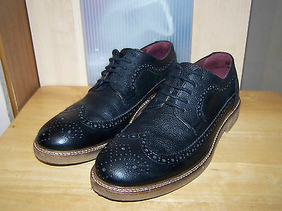 NEXT The Brogue Black Leather Mens Shoes (made in Portugal)  UK-8 EU-42