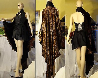 Set Used XENA WARRIOR PRINCESS Bacchae PROP Caped Leather Bustier and Skirt
