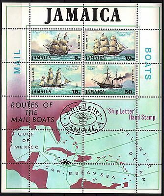 Jamaica - 1974 - Mail Packet Boats - SG MS 384 - MNH
