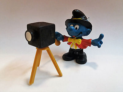 "The Super Smurfs Puffi ""photographer"" 4.0217- 1980 Peyo W.germany Mf41116"