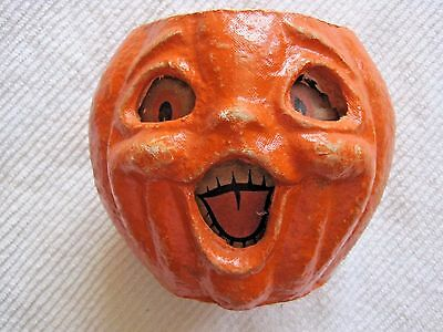 Paper Mache Halloween Jack O Lantern Open Mouth Loose Paper Insert No Handle 5""