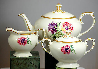 Lamberton Ivory China Tea Set Field Lily Pattern