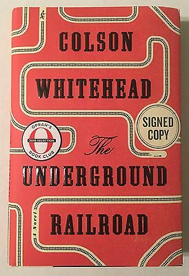 Colson Whitehead The Underground Railroad Book Signed First Edition