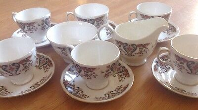 Colclough Bone China Tea Set Pattern 8525