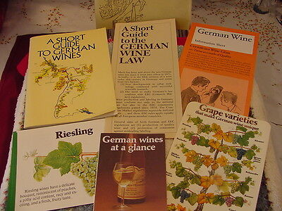 German Wine  Booklet  Vintage 1978