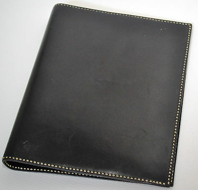 Authentic Hermes Pompadour Black Leather Adaptable Diary Cover - Used