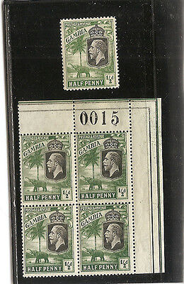 GAMBIA  1925 1d deep green  SG123 unmounted mint block of 4