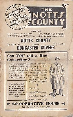 Notts County v Doncaster Rovers, Division 2,  11/4/1955
