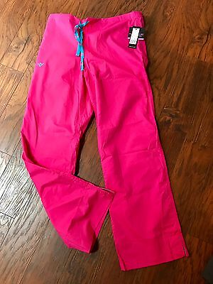 New Women's Large Med Couture Pink EZ Flex Scrubs Pants NWT