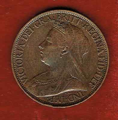 Great Britain Farthing 1900..queen Victoria