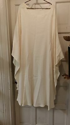 Vintage Liturical Clergy Chasuble Vestment Winter White Double Knit Custom Made
