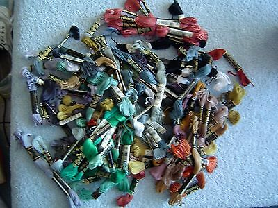 Job Lot Dmc Embroidery Cottons / Embroidery Threads - As Photo