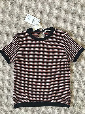 Zara Knit Short Sleeve Jumper Size S