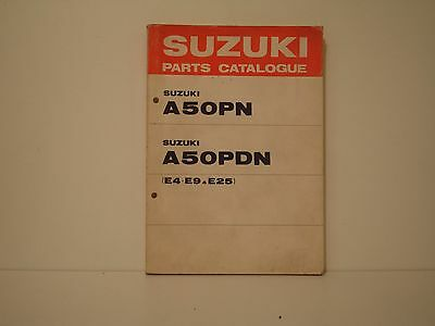 Suzuki A50Pn Parts List Catalogue Parts Catalogue Pieces Detachees