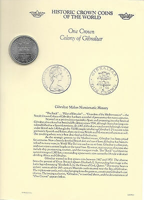 Historic Crown Coins of the World Gibraltar 1 Crown 1970 UNC