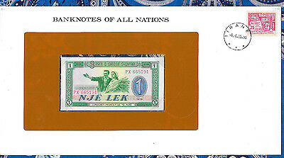 Banknotes of all Nations Albania 1976 P40a One Lek UNC Prefix PX