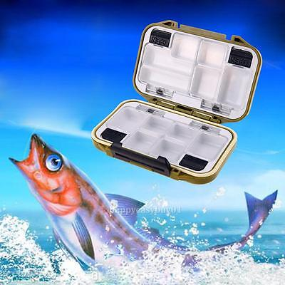 10 Compartments Waterproof Fly Fishing Lure Bait Hook Tackle Storage Case Box