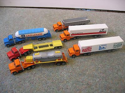 Collection of 6 Vintage Majorette Diecast Articulated Lorries / Trucks - Job Lot