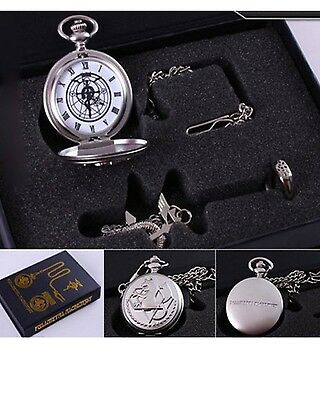 OliaDesign Fullmetal Alchemist Anime Pocket Watch Necklace Ring Collectables NEW