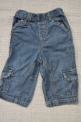 Baby Boys Elasticated Waist Cargo Jeans UK Age 6-9 Months from Next
