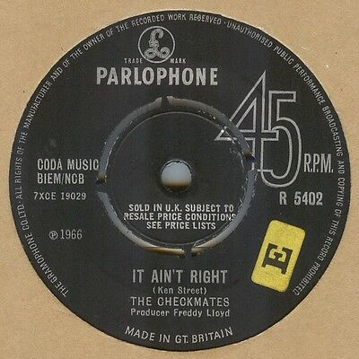 The Checkmates**it Ain't Right**beat**mod**dancer**listen To It
