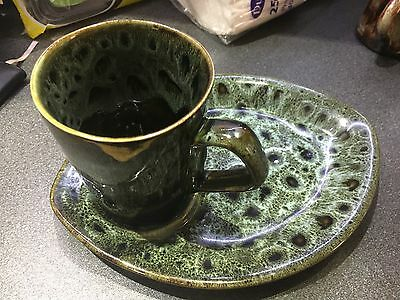 Fosters Pottery cup and plate set