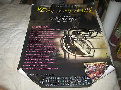 YEAH YEAH YEAHS-(fever to tell)-1 POSTER-18X24 INCHES-NMINT-RARE