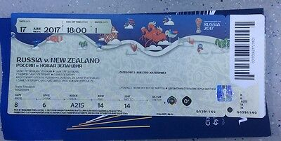 Used Sammler Ticket ConfedCup 17 Russland - Neuseeland Russia - New Zealand MINT