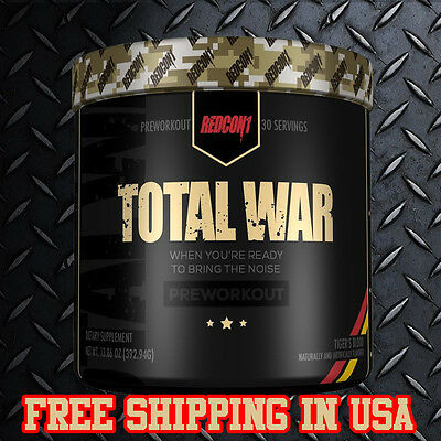 Redcon1 TOTAL WAR Pre Workout, Energy,Power,Pumps,Several Flavors Mesomorph