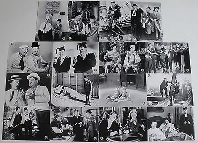 Laurel and Hardy German lobby card set 16 re-release